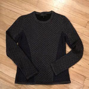 Rag and Bone blue metallic sweater